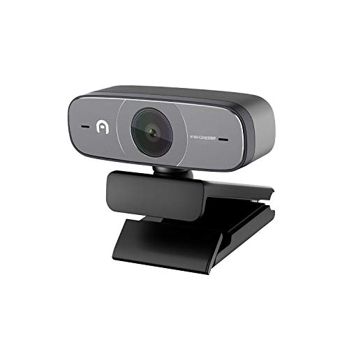Azulle Webcam HD Streaming Camera Full HD 1080p @ 30fps Video Recording with Real-Time Autofocus and Dual Noise Cancelling