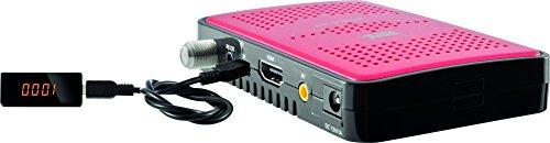 Digitalbox 77-558-00 HD 5 mini Imperial mobiler HDTV-Receiver (HDMI, AV-Out, USB, externes Display für 12V und 230V, Hustler HD, Private SD) schwarz/rot