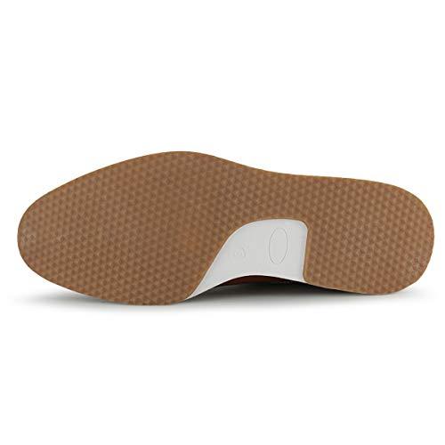 MERRYLAND Men's Business Casual Oxford Shoes,Black PU, 12 M US