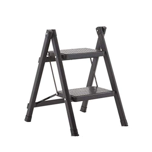 Creative Home Ascending Solid Wood Folding Ladder Frame Staircase Chair Step Stool Indoor Mobile Ladder Stool
