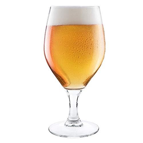 Hostelvia - Copas de Cerveza Barley 440 ml - Pack de 6 - Cristal Templado - Apto para Microondas y Lavavajillas