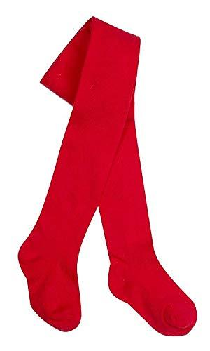 Paquete de 3 medias de algodón elastizadas y cómodas para bebés, tejido liso texturizado Blanco rosso 6-12 Meses