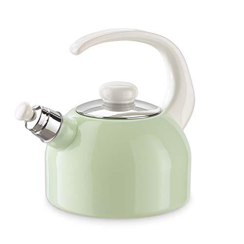 Riess Flötenkessel 2 Liter Pastell Wasserkessel Pfeifkessel Topf Grün