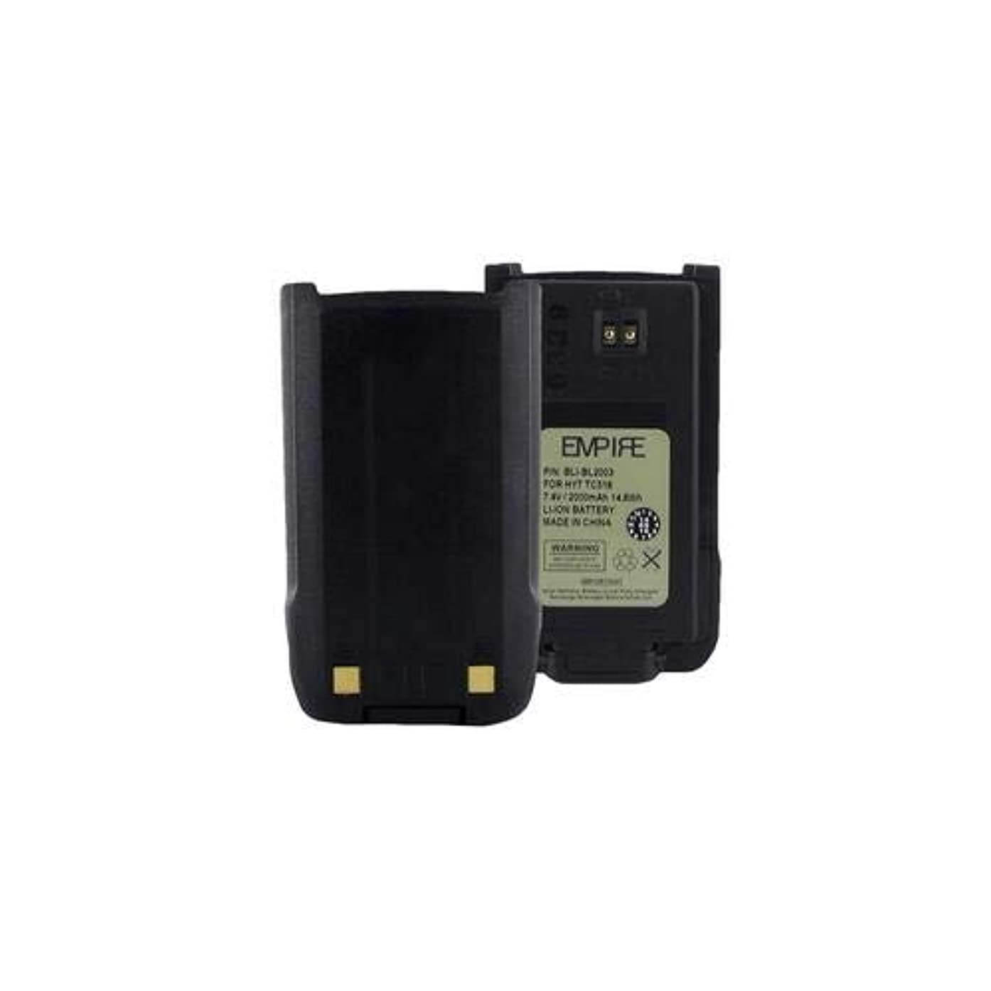 HYT TC518V 2-Way Radio Battery (Li-Ion 7.4V 2000mAh) Rechargeable Battery - Replacement for HYT BL2003 Battery