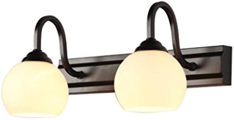 YY_Z Spiegel Licht führte Badezimmer europischen Stil Dresser Nordic Make-up Licht Spiegelschrank Badezimmer Licht (stil   schwarz 2)