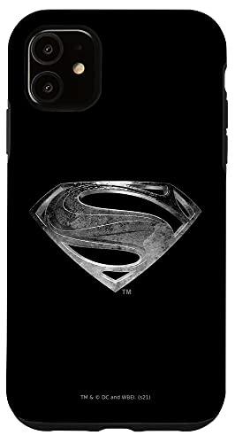 iPhone 11 Zack Snyder's Justice League Superman Symbol Black Suit Case