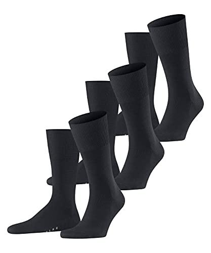 FALKE Herren Airport 3-Pack M SO Socken, Blau (Dark Navy 6370), 41-42 (3er Pack)