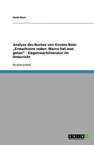 Analyse des Buches von Kirsten Boie: