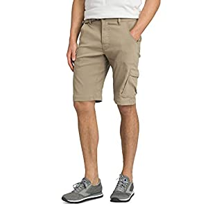 prAna – Men's Stretch Zion Lightweight, Water-Repellent Shorts for Hiking and Everyday Wear, 12″ Inseam, Dark Khaki, 32