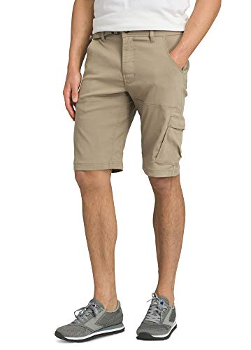 "prAna - Men's Stretch Zion Lightweight, Water-Repellent Shorts for Hiking and Everyday Wear, 12"" Inseam, Dark Khaki, 35"