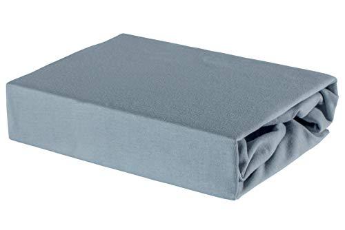 Soft Dream Bettlaken Spannbettlaken - 28 Farben - 100% Baumwolle Jerse (80 x 180 cm, Grau)