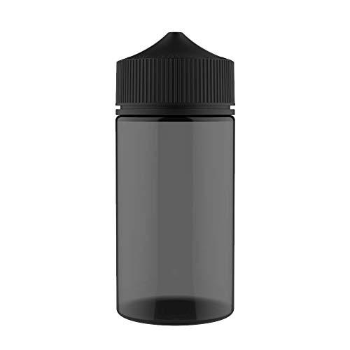 Chubby Gorilla V3 3X 200ml Pet Bottles for Liquids, Oils and E-Liquid - Dropper Bottles (Transparent Black Bottle with Black Cap)