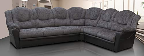 Texas Corner Sofa Large 6 Seats Chenille Fabric Suite Grey Black Brown Colour Living Room Couch Home Furniture