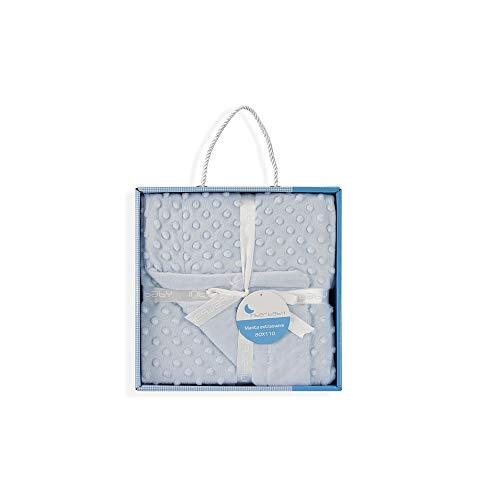 INTERBABY - Manta para bebés, 0.80 x 1.10 m, color azul