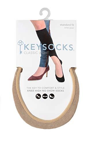 keysocks luz tela no show–Calcetines de caña alta - Beige -