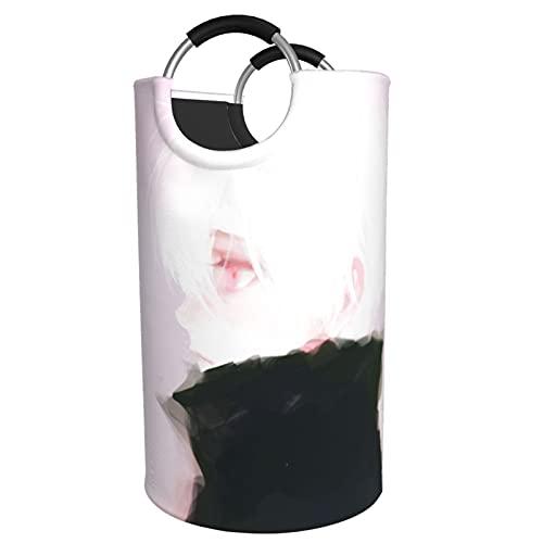 Anime Tokyo Ghoul - Cesta para la ropa sucia, bolsa de almacenamiento impermeable con asa para dormitorio, armario, 82 L, hombre y mujer