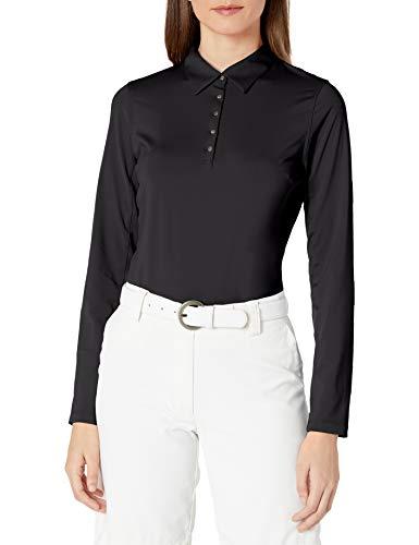 Cutter & Buck Damen Poloshirt, feuchtigkeitsableitend, UPF 50+, langärmlig - Schwarz - Klein