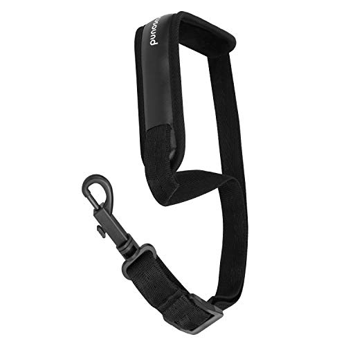 Focusound Upgraded Length Saxophone Neck Strap Soft Sax Leather Strap Padded for Alto and Tenor Saxophone