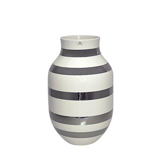 [ケーラー] Kahler オマジオ フラワーベース 花瓶 Omaggio H305 silver [並行輸入品]
