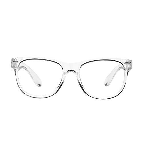AZorb Kids Blue Light Blocking Glasses Soft TPEE Unbreakable Frame for Boys & Girls-Transparent
