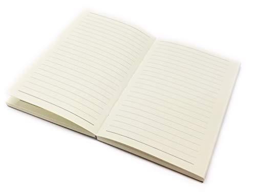 Reise Tagebuch Notizbuch Travel Journal Lifestyle mit Einband aus Italian Bonded Leather, Stiftschlaufe und einem Bleistift HB (A5 Refill Linien)