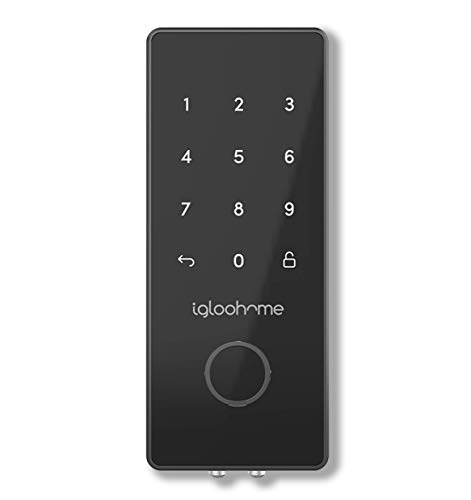 Igloohome Smart Electronic Deadbolt 2S, Grant & Control Remote Access with Pin Code - Touch Screen Keypad with Built-in Alarm - Bluetooth Enabled Works Offline (Metal Grey)