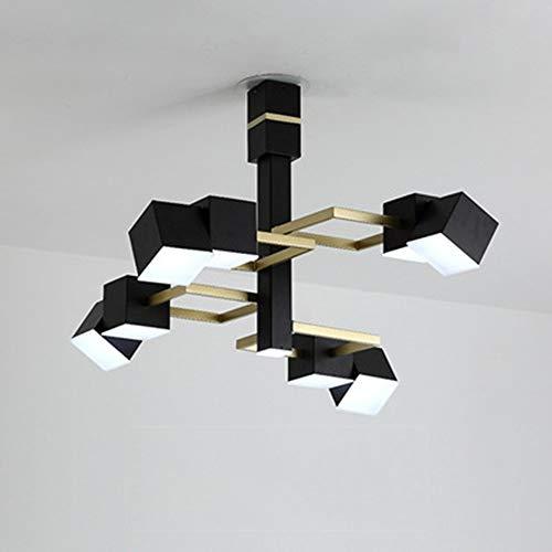 XXYHYQHJD Negro Salón Dormitorio lámpara de Techo Creativo nórdica Post-Moderna Lámparas de...