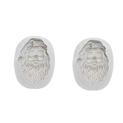 Silicone Molds Santa Claus, Christmas Theme Craft Art Silicone Cake Mold, Craft Molds DIY Handmade Chocolate Molds - Best Craft Art Tool for Gifts (White)