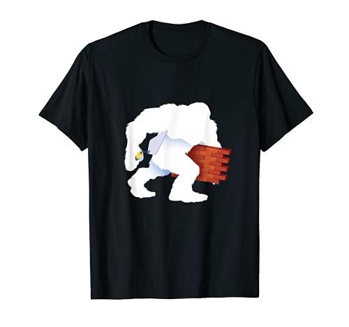Pie Grande Albañil Sasquatch Ladrillos de albañilería Camiseta