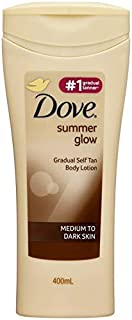 Dove Summer Glow Body Lotion Medium To Dark Skin, 400ml