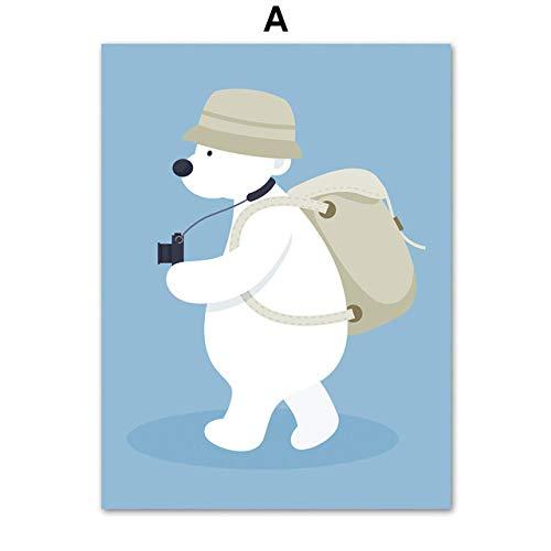 Lyrdream Cartoon Wombat bolsa de transporte, póster de lona, hogar decorativo para niños dormitorio-60x80 cm