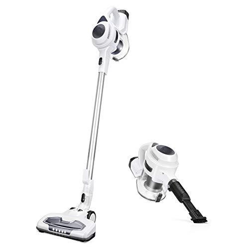 MOOSOO Cordless Vacuum Cleaner 2-in-1 Strong 15Kpa & LED...