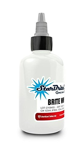StarBrite Colors Tattoo Ink by Tommy's Supplies – Brite White – 1oz Bottle