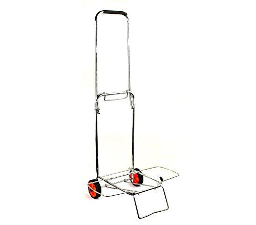 MEDIAWAVE Store Carrello porta valigia pieghevole EVERTOP 86x43x35 cm 444005 carico max 30 kg
