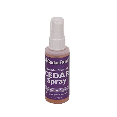 Household Essentials CedarFresh 84802 Cedar Power Spray with Lavender Essence Scent   Protects Closets   Restores Scent to Cedar Wood Accessories   2 fl. oz.