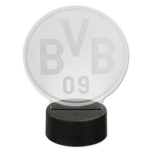Borussia Dortmund BVB-Logoleuchte Dekoration, schwarzgelb, one Size