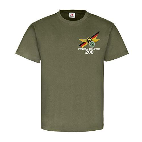 Fernspähkompanie 200 Veteran FeSpähKp Fallschirmspringerabzeichen T Shirt #21715, Größe:XL, Farbe:Oliv