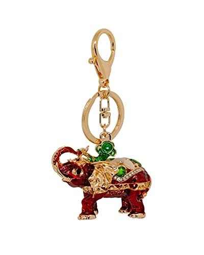 Heminea Royal Elephant - Colgante para bolso, color rojo