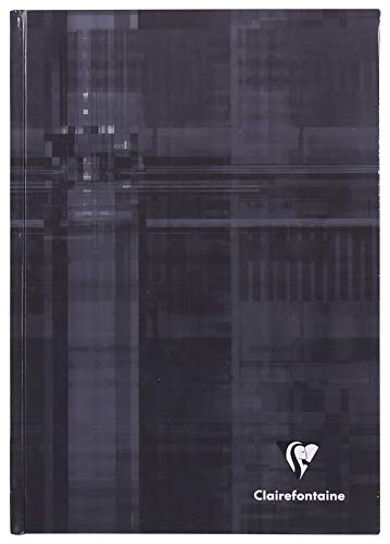 Clairefontaine Hard Bound Notebook, A5, Lined - Dark Grey