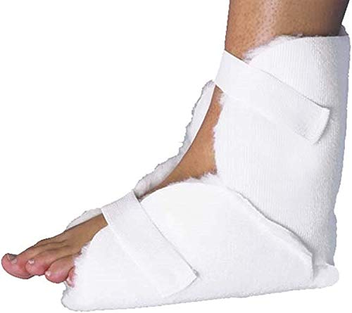 Fersenschoner universal - 1 Stück - mit Klettband┇Fersenpolster gegen Wundliegen, Druckschmerzen und Wundbelastung┇ANTI-DEKUBITUS Fersenschutz - Waschbare Polster für die Füße Fuß Ferse Schoner