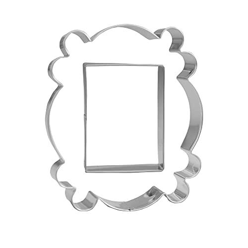 """Door Frame Cookie Cutter Set - 2 Piece - 4.5"""" Door Frame, 2.7"""" Rectangle - Stainless Steel"""