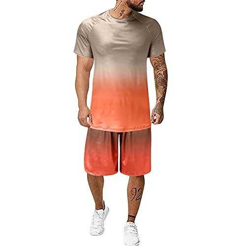 Conjunto Deportivo Hombre Traje Hombre Verano Camisetas Manga Corta Hombre Pantalones Cortos Hombre Baloncesto Ropa de Fitness para Hombre Ajustados para Hombre Ropa de fútbol para Hombre