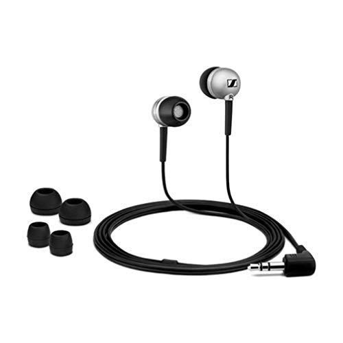 Sennheiser CX 300-II Precision In-Ear-Kopfhörer (1,2 m Kabellänge, 3,5 mm Klinkenstecker, Tragetasche, Earadapterset S/M/L) silber
