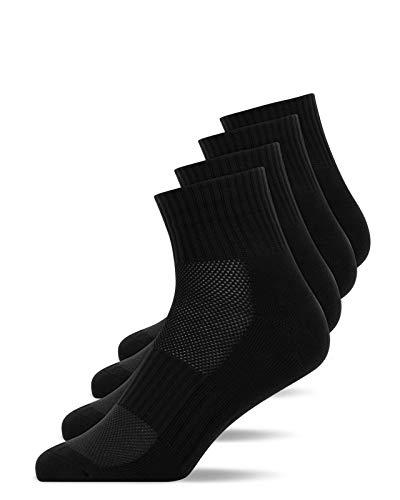 Snocks Laufsocken Herren Schwarz Größe 43-46 4X Paar Laufsocken Damen Sportsocken Herren 43-46 Laufsocken Herren 43-46 Running Socks Sportsocken