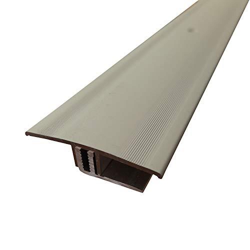 ufitec Profilsystem für Parkett- und Laminatböden - für Belagshöhen von 7-15 mm - viele Farben lieferbar (Übergangsprofil 90 cm lang | 45 mm Breit, Silber)