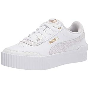 PUMA Women's Carina Lift Sneaker White White Team Gold, 9