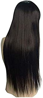 22 inches Womens Silky Long Straight Brown Wig Heat Resistant Synthetic Wig With Bangs Hair Wig for Women