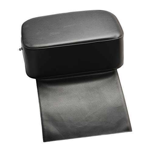 perfeclan Kinder Quadratische Sitzerhöhung Stuhl Sitzkissen Tragbar Zerlegbar Boostersitze Friseurstuhl Erhöhen Pad Bodenkissen mit PU-Lederbezug