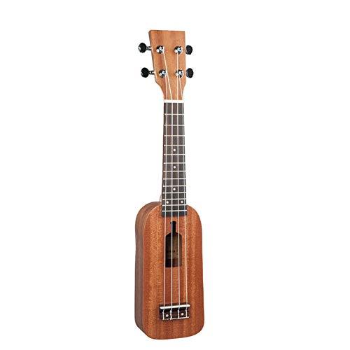 Edge to 23 Zoll 12 Frets Sopran-Ukulele, Ukulele Hawaii-Gitarre Mahagoni Ukulele Flaschentyp Ukulele mit 4 Schnur-Gitarre