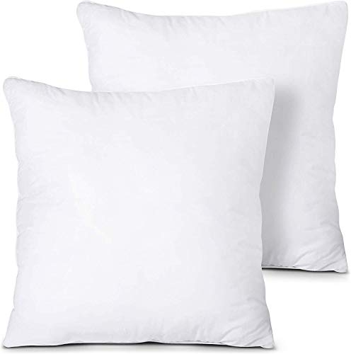 CnA Stores -18' Inch Square Cushion Inner Pads Insert Fillers Non Allergenic - Pack of 2 (45 x 45 cm)